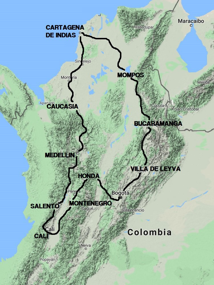 COLOMBIA IN MOTO