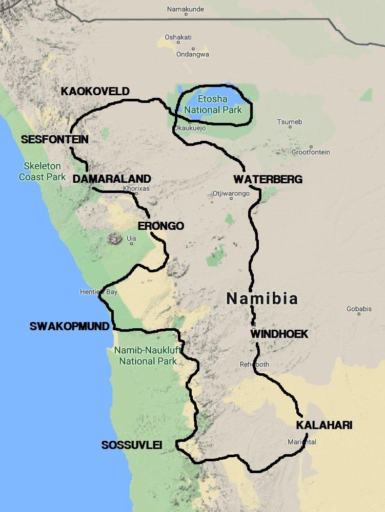 NAMIBIA IN MOTO